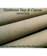 Sunforger Canvas 10.1 Oz. Pearl Gray, Marine Finish, Sold By-The-Yard, 3... - $14.32