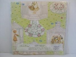 American Greetings Holly Hobbie Giftwrap Wrapping Paper Gazebos - $14.85