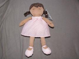 CARTERS BABY GIRL DOLL STUFFED PLUSH CLOTH PINK WHITE POLKA DOT DRESS # ... - $59.39