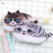Kawaii Pencil Case Novelty cat flannel School Supplies Bts Stationery Gi... - $6.69