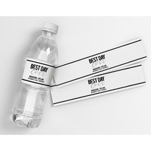 Best Day Ever Wedding Silver Personalized Waterproof Party Water Bottle ... - $21.78