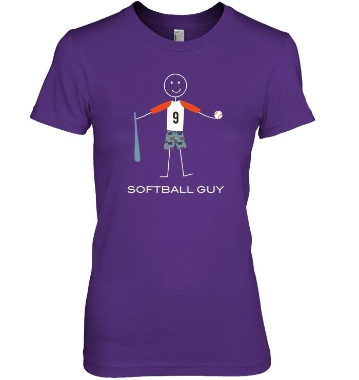 Funny Softball Tshirt for Boys Sport Gifts for Men