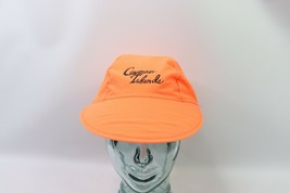 Vtg 90s Cayman Islands Spell Out Adjustable 3 Panel Floppy Brim Hat Neon... - $24.70