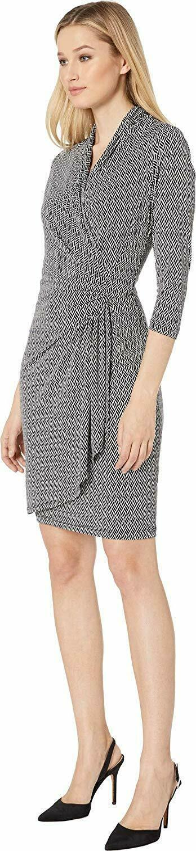 Karen Kane Women's 3/4 Sleeve Cascade Wrap Dress image 2