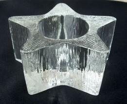 Avon Star Bright Votive Candleholder 1980 Christmas Textured Glass Vintage - $9.99