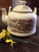 Retro Mid Century Enameled Tea Pot - $13.86