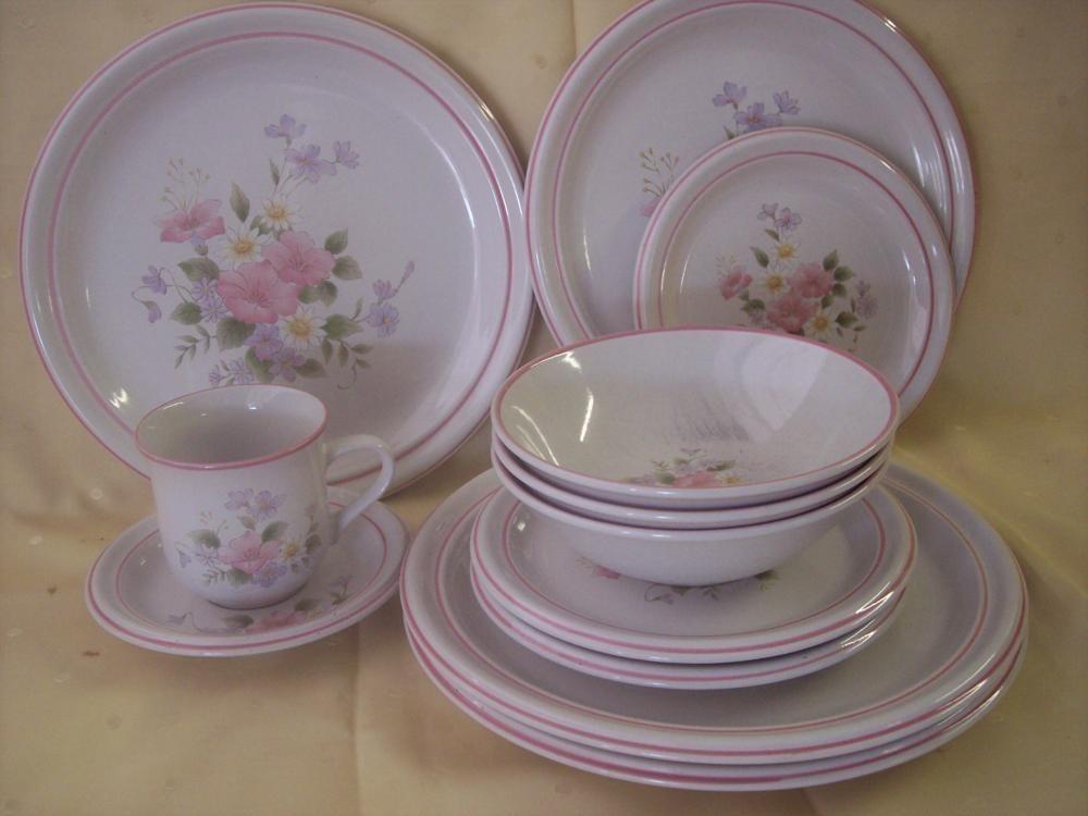 12 Fitz & Floyd Spring Garden Flowers Plates Bowls Cup - $35.99