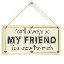 Meijiafei You'll always be my friend you know too much - Friendship Gift Love He