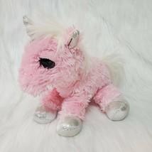 "10"" Aurora Unicorn Dreamy Eyes Girl Pink Silver Plush Stuffed Animal Toy... - $12.97"