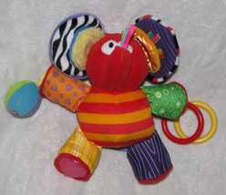Lamaze RED ELEPHANT Play & Grow Baby Activity Early Development Rattle/S... - $19.79