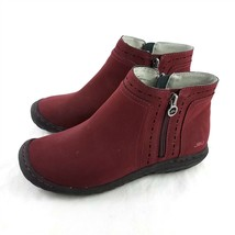 JBU Jambu Juno Burgundy Ankle Winter Boots Zippers Memory Foam Womens 8 M - $14.84