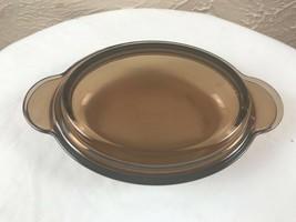 Corning Ware Vision Amber Oval Grab It Bowl V-14-B & Pyrex Lid P-14-C - $13.98