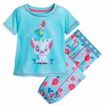 Disney Moana Pua and HEI HEI Pajama Set for Girls - Sz 5/6 - $24.99