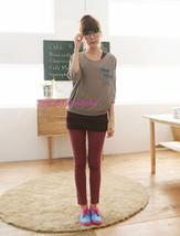 Japon Bonbon Délavé Faux Jeans Extensible Skinny Pull Pantalon ! Corail - $8.39