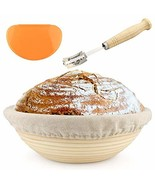 10 inch Banneton - Bread Proofing Basket - with Cloth Liner, Wooden Brea... - $14.79