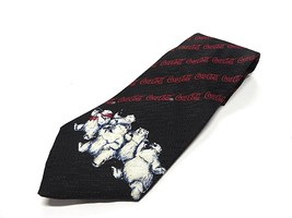 COCA-COLA  Polar Bear Multi-Colored 100% Polyester Men's Neck Tie Made in USA - $29.65