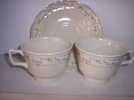* 3 Royal Doulton Somerset LS1048 Cup & Saucer - $31.67
