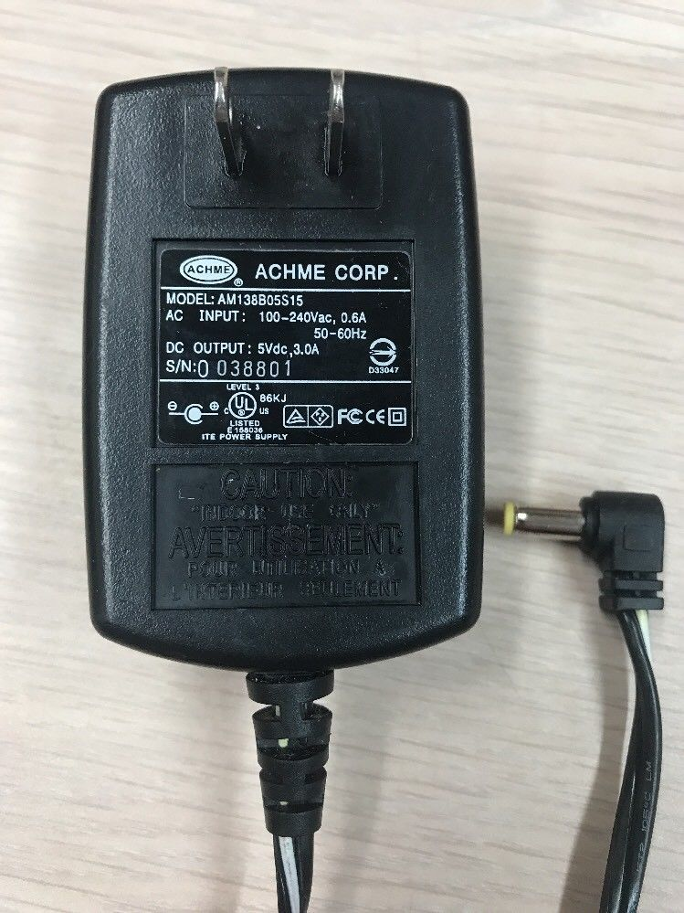 ACHME AC Power Supply Adapter Adaptor Charger AM138B05S15 Output: 5V 3A       H9