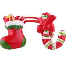 Set of 5 Cute Christmas Shoes And Crutches Hair Rope Ponytail Holders