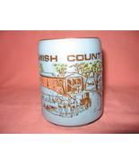 Amish Country Blue Stoneware Coffee Mug Cup - $9.99