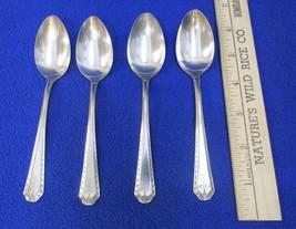 Teaspoons Oneida Community Baronet Algonquin Silverplate Vintage Set 4 M... - $8.90