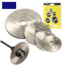 6pcs Set Mini HSS Circular saw disc drill blade rotary tool for dremel wood tool - $18.59