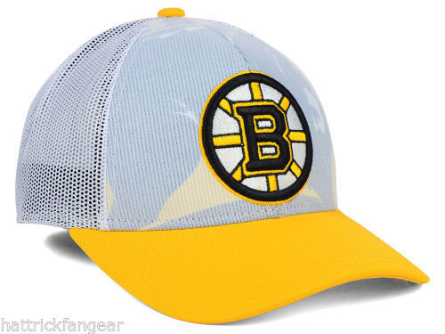 Boston Bruins Reebok NX28Z NHL Team Draft Meshback Hockey Cap Hat image 3