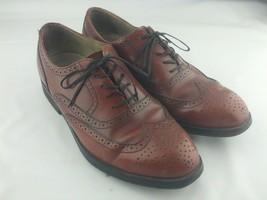 ROCKPORT Dressports Brown Leather Wingtip Oxfords Shoes Mens Vibram 7 - $44.13