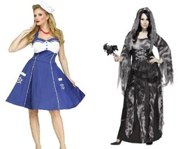Womens Plus Size Sweet Sailor or Cemetary Bride Halloween Costume-size 1X - $34.00