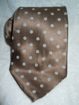 RBM Brown with Light Brown Dots Silk tie - $3.99
