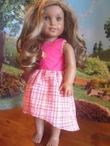 "homemade 18"" american girl/madame alexander yellow butterf sundress doll clothes - $17.82"