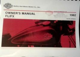 1982 Harley-Davidson  Owner's Manual . FL/FX  89   Pages   Illustrated - $18.54