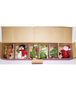 FABULOUS HTF POTTERY BARN KIDS CHRISTMAS ICONS HOLIDAY FELT MOBILE IN BOX - $54.69