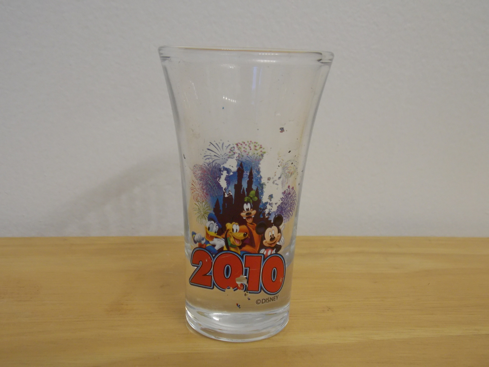 Disney Friends 2010 Tall Shot Glass