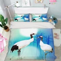 3D Lake Cranes 2 Bed Pillowcases Quilt Duvet Cover Set Single Queen King Size AU - $90.04+