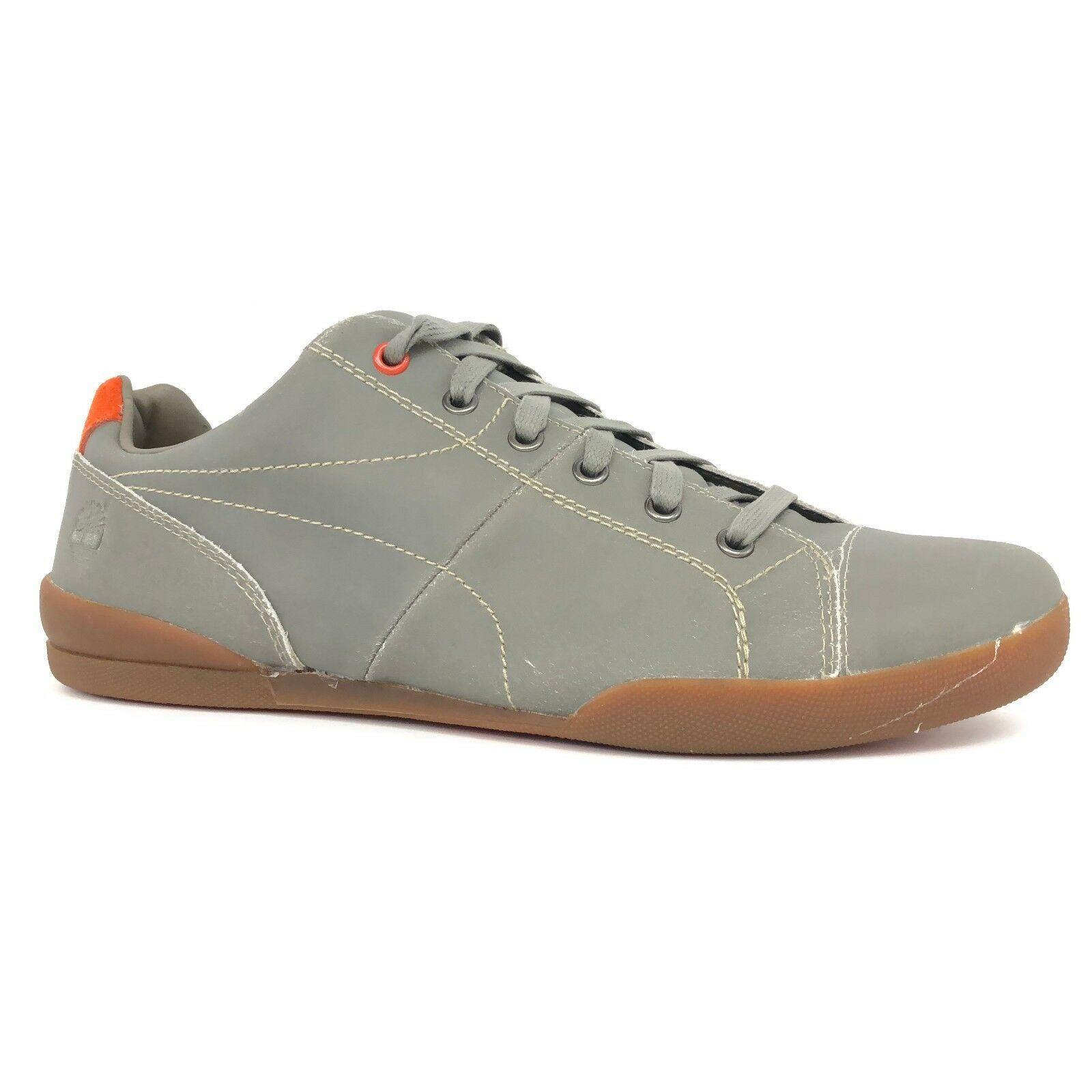 Timberland Men's Earthkeepers Splitcup Cap Toe Taupe Orange Oxford Shoes 5357A - $49.99