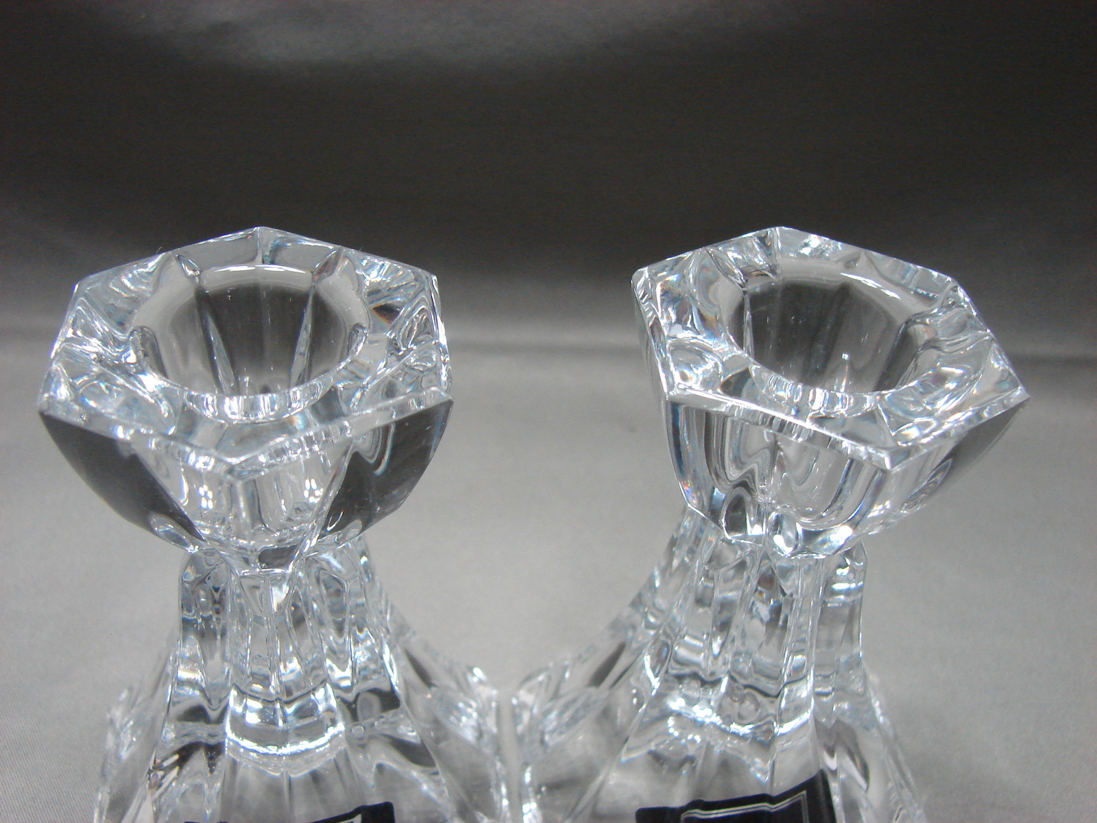 Mikasa Linear Candleholders Pair Crystal 3.5 inches tall image 2