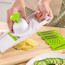 Multifunctional Mandoline Slicer with 4 Interchangeable Stainless Steel ... - $24.29