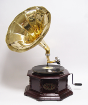 vintage gramophone ready to use, Antique home decor, working phonograph,... - $399.00