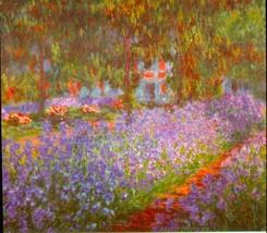 Monet's Garden by Monet - 24x32 inch Canvas Wall Art Home Decor - $51.99