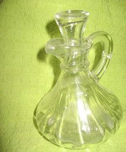 Cruet with Stopper- Pressed Glass-Clear-Vinegar/Oil-Anchor Hocking-USA-1... - $7.00