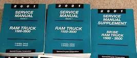 2001 Dodge RAM Camion Diesel 1500 2500 3500 Servizio Negozio Repair Manual Set W - $247.44