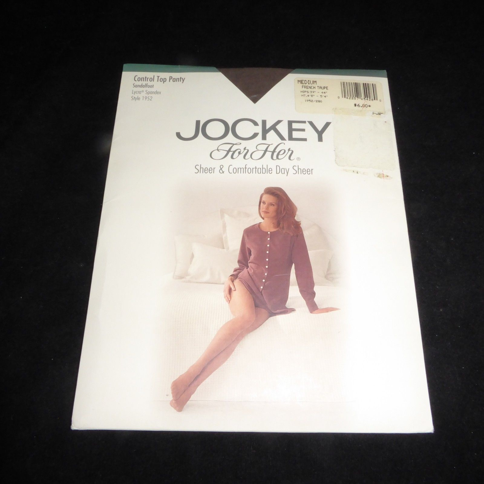 305a060e41747 57. 57. Previous. NEW JOCKEY Pantyhose Sheer Control Top Style 1952 MEDIUM  Size French Taupe