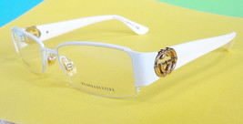 GUCCI Women's Frame Glasses GG2844 WHITE 135 Stainless Steel MADE IN ITA... - $165.00