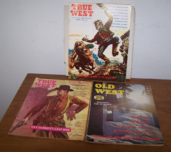 3 True West Magazines Oct. 58   Dec. 58   Winter 1979