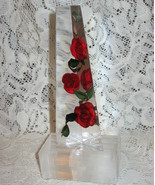 Bircraft Lucite & Roses Obelisk Light-1950's - $40.00