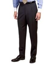 5666-2 Brooks Brothers Mens Dark Gray Striped Wool Pleated Dress Pants 3... - $109.21
