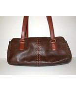 Fossil Pebbled Leather CORONADO Hobo Bag Two Tone Brown ZB7023  - $24.00