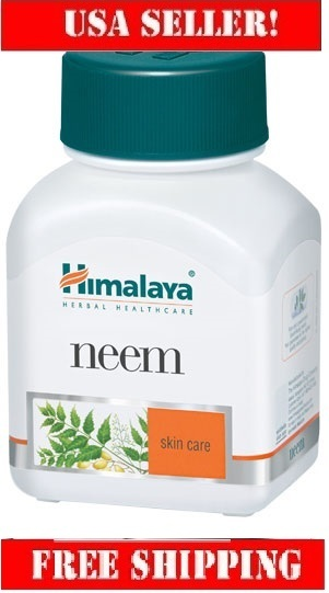 Himalaya Neem 60cap Margosa Tree for pimples,Skin allergies & infections,val $15