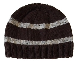 Closet Values Toddler Boys Size 2T-4T Brown Striped Knit Beanie Hat - $10.99